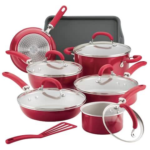 Rachael Ray Create Delicious Aluminum 13-Piece Nonstick Cookware Set - 13 Pc