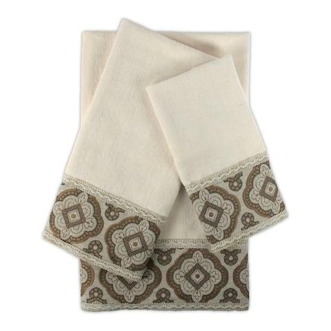 Sherry Kline Merrill Ecru 3-piece Embellished Towel Set