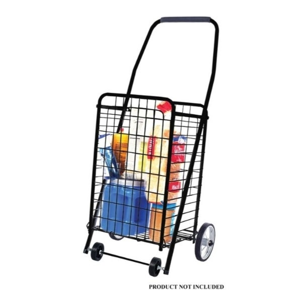 Apex Collapsible Shopping Cart Black