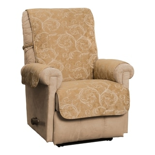 Lemont Scroll Jacquard Recliner/Club Chair Furniture Cover Slipcover