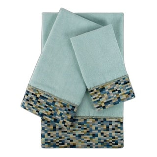 Sherry Kline Oreville Light Blue 3-piece Embellished Towel Set