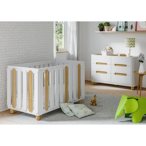 Storkcraft Sienna 3-in-1 Convertible Crib with Adjustable Height Mattress for Infant or Toddler