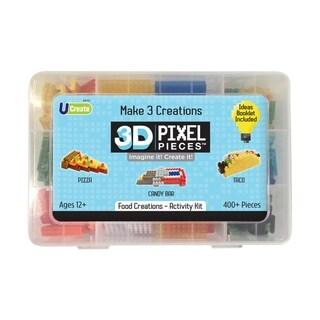3D Pixel Pieces - Food Creations Activity Kit: 400+ Pcs