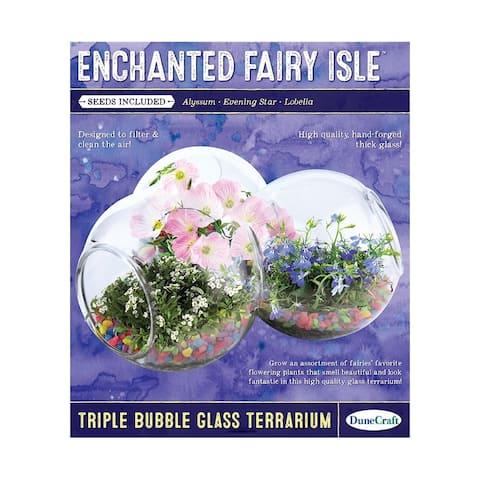 Triple Bubble Glass Terrarium - Enchanted Fairy Isle