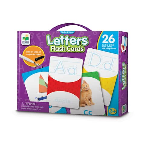 Write & Erase Letters Flash Cards