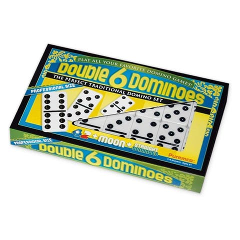 Double 6 Black Dot Dominoes - Professional Size