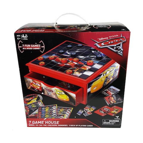 Cars 3 7-in-1 Game House Wood Cabinet