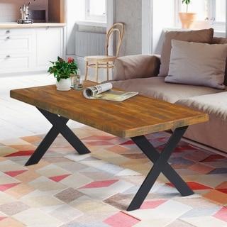 Carbon Loft Enjolras Rustic X-cross Coffee Table