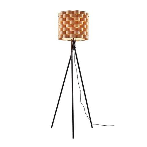 Carson Carrington Riga Matte Black Tripod Floor Lamp - 61.50-inch