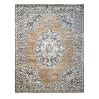 "Avenue 33 Beryl Grier Beige Area Rug (7'10"" x10') by Gertmenian - 7'10"" x 10'"