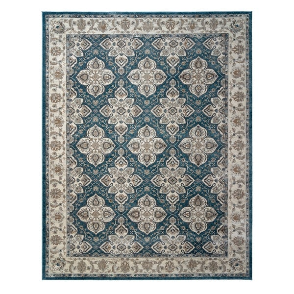 "Avenue 33 Beryl Blair Blue Area Rug (7'10"" x10') by Gertmenian - 7'10"" x 10'"