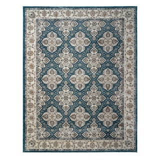 "Avenue 33 Beryl Blair Blue Area Rug (5'3"" x7'5"") by Gertmenian - 5'3"" x 7'5"""