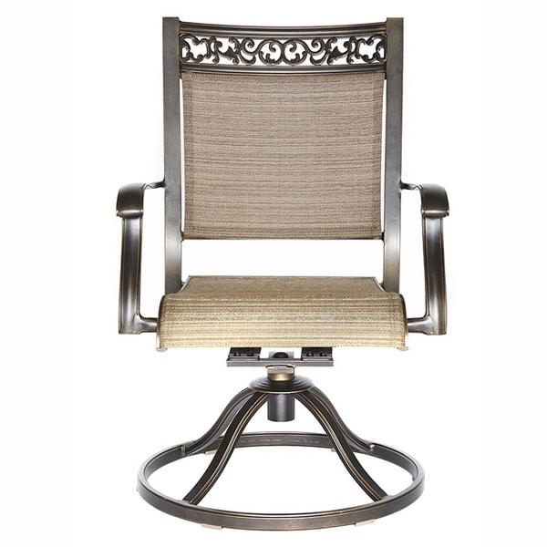 Patio Furniture Sets Patio, Lawn & Garden dali Swivel Rocker Chair,Cast Aluminum All Weather Comfort Club Arm Patio Dining Chair 2 Pc