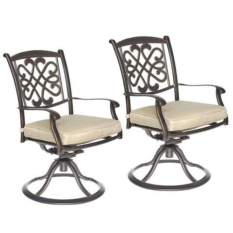 dali Patio Swivel chairs, Outdoor Swivel Rocker Patio Furniture 2 Pcs Sets