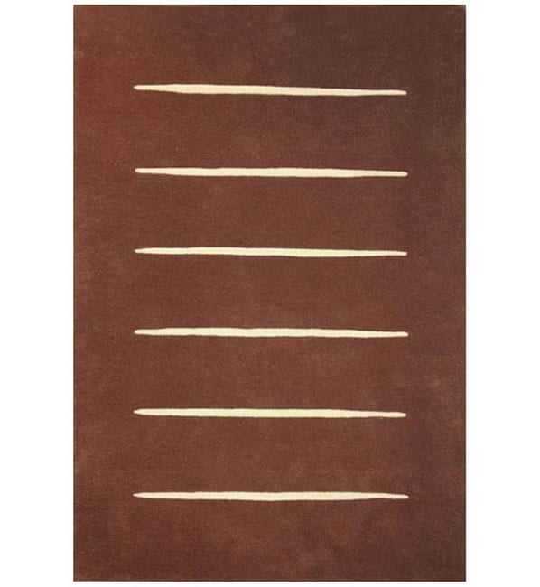 Hand-tufted Wool Steps Rug - 8' x 10'6