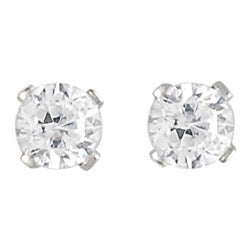 Journee Collection  Sterling Silver Round CZ Stud Earrings