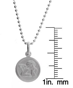 Sterling Silver 18-inch Raphael Guardian Angel Necklace
