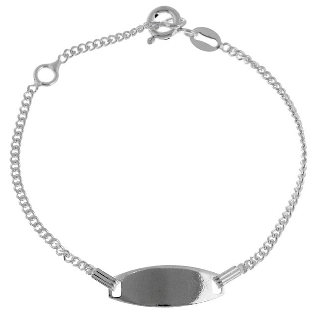 Sterling Essentials Silver 5 Inch Adjule Child X27 S Id Bracelet