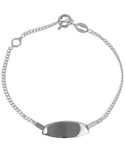 Sterling Essentials Sterling Silver 5.5-inch Adjustable Child's ID Bracelet