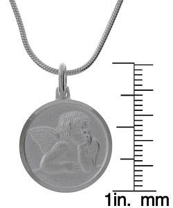 Roberto Martinez Sterling Silver 24-inch Raphael Guardian Angel Necklace
