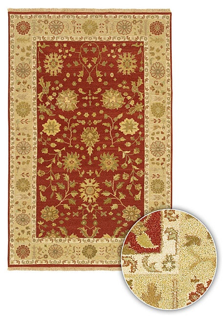 Artist's Loom Hand-knotted Traditional Oriental Wool Rug (7'9 Round) - multi