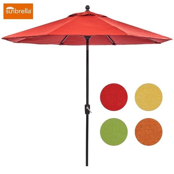 93426a83e094a dali Patio Umbrella, 9 Ft Aluminum Patio Market Outdoor Table Umbrella Auto  Tilt Crank