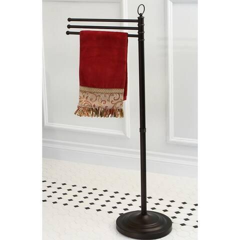 Pedestal Oil-rubbed Bronze Towel Bar