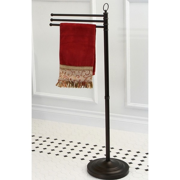 Pedestal Oil-rubbed Bronze Towel Bar