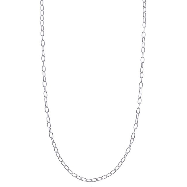 Sterling Essentials Silver 1.5 mm Oval-link Chain (16-20 Inch)