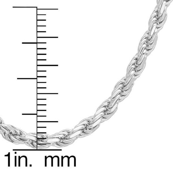 italian sterling silver 3 mm diamondcut rope chain inch free shipping on orders over 45