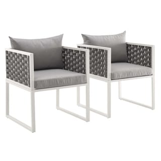Link to Stance Dining Armchair Outdoor Patio Aluminum Set of 2 Similar Items in Patio Dining Chairs