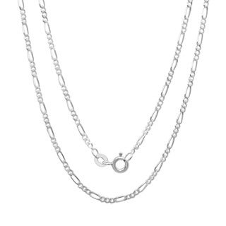 Sterling  Silver 1.5 mm Figaro Chain (16-24 Inch)