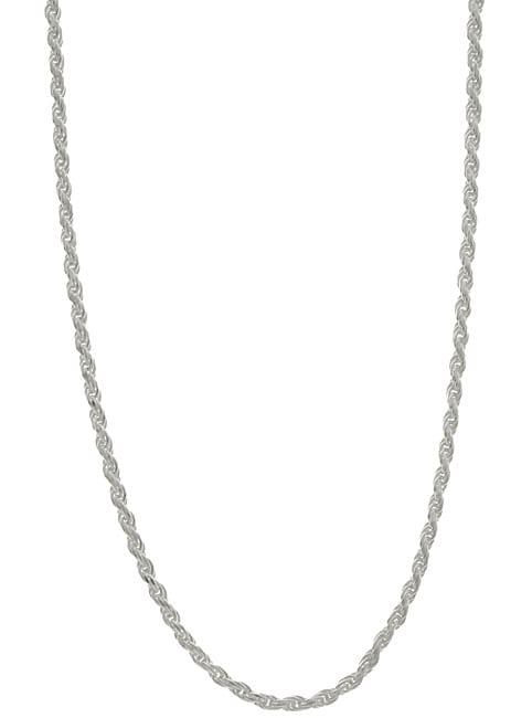 Sterling Essentials Sterling Silver 16-inch Diamond-Cut Rope Chain (1.8mm)