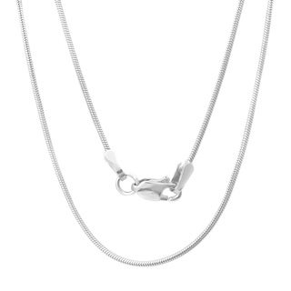 Sterling Silver Italian 1mm Snake Chain (16-30 Inch) (4 options available)