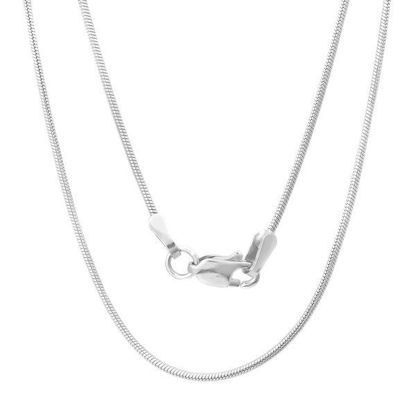 Sterling Essentials Italian Silver 1 mm Snake Chain (16-30 Inch)