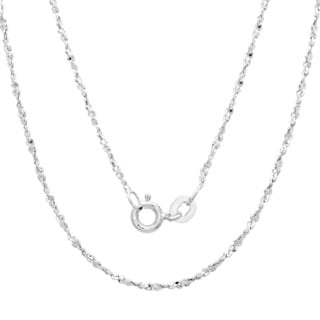 Sterling Essentials Silver 1.5 mm Twisted Serpentine Chain (16-20 Inch)