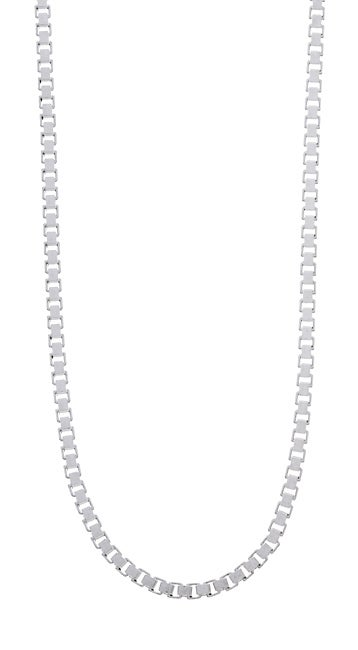 Sterling Essentials Sterling Silver 2mm Venetian Box Chain (20-inch)