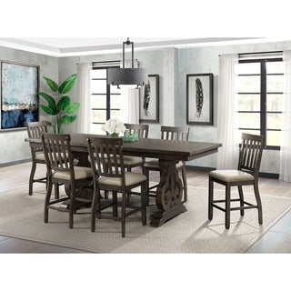 The Gray Barn Coyote Crossing Counter Height Dining Set with Slat Back Chairs