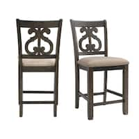 The Gray Barn Coyote Crossing Counter Swirl-back Side Chair (Set of 2)