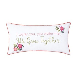 We Grow Together Embroidered Pillow