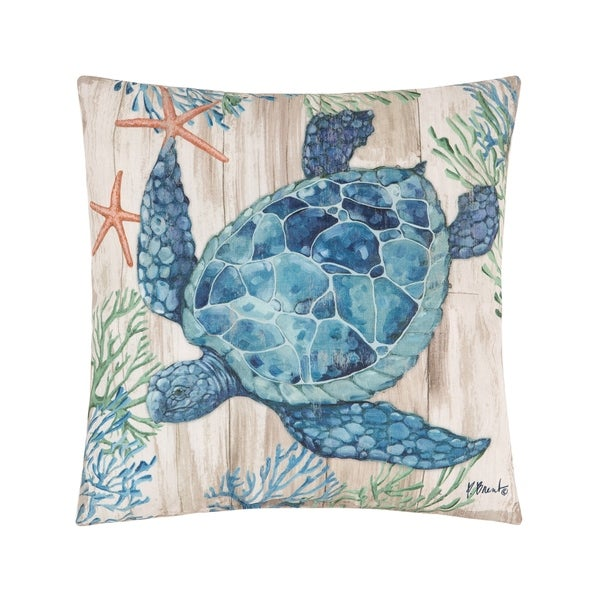 Clearwater Sealife Coastal Indoor/Outdoor Pillow