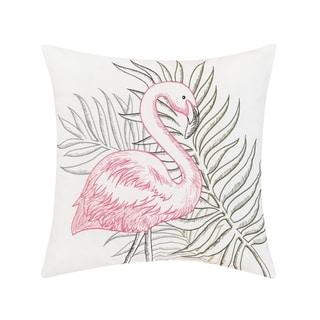 Flamingo Tropics Indoor / Outdoor Embroidered Pillow