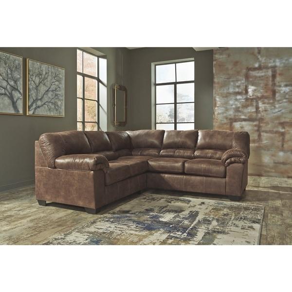 Bladen 2-piece Coffee Brown Sectional Sofa