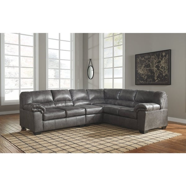 Bladen 3-piece Right Facing Slate Sectional