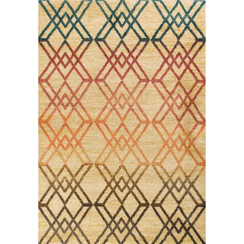 Domani Catalonia Contemporary Sand Area Rug
