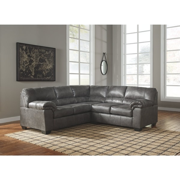 Shop Bladen 2 Piece Left Facing Sectional In Slate Grey