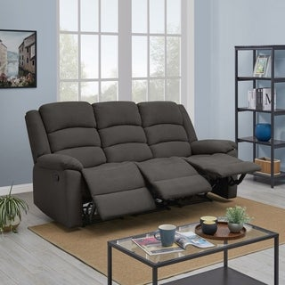 Copper Grove Geel 3-seat Low-pile Velvet Recliner Sofa