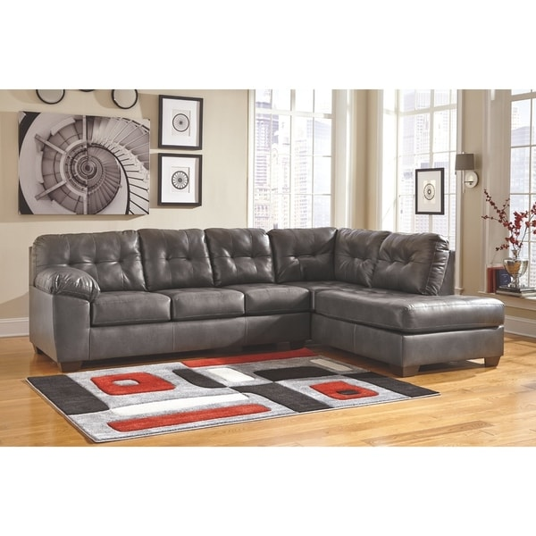Shop Alliston Grey Right Arm Facing Corner Chaise And Left