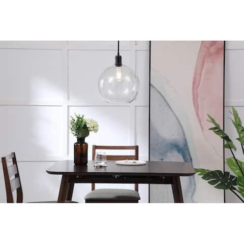 Amaris 12.5-Inch 1-Light Clear Glass Pendant