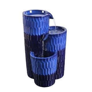 Emberly Cobalt 25 Inch Height Floor Fountain